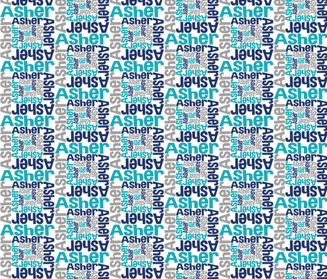 personalised name design - spiral fabric by spunkymonkees on Spoonflower - custom fabric