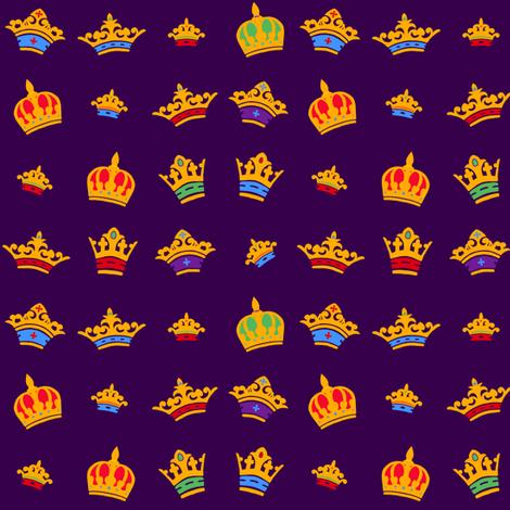 Tiny Crowns fabric by jadegordon on Spoonflower - custom fabric