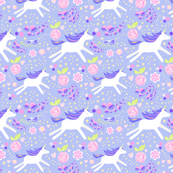 unicorn floral lavender and violet