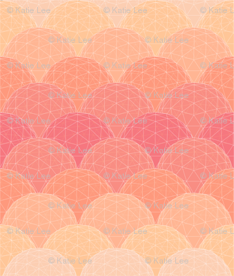 geodesic scallop- sunset glass