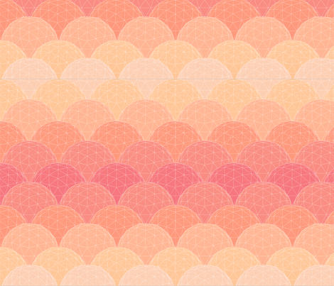 geodesic scallop- sunset glass fabric by katielee on Spoonflower - custom fabric