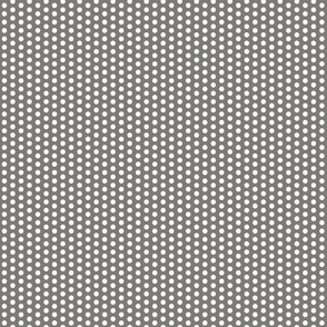Gray and white polka dot