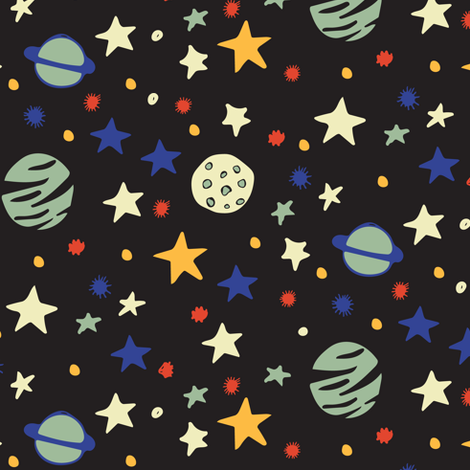Outer space fabric jacquelinehurd spoonflower for 3d space fabric