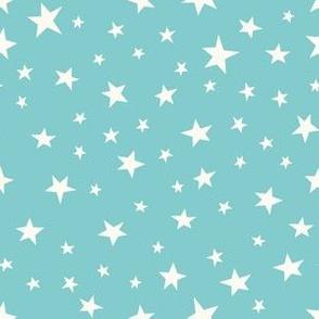 Stars - turquoise cream