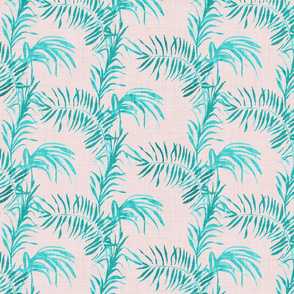 Tropical Palm (LINEN blush)