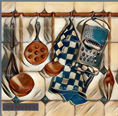 Farmhouse Kitchen Copper & Blue