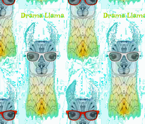 The Drama LLama fabric by floramoon on Spoonflower - custom fabric