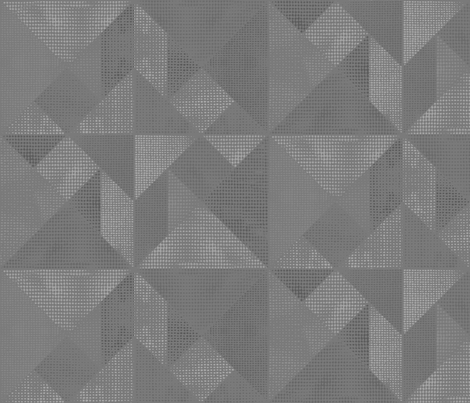 Mid  Grey Tangram Texture fabric by stitchyrichie on Spoonflower - custom fabric