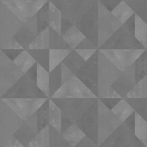 Mid  Grey Tangram Texture
