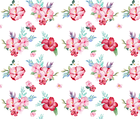 """9"""" Surfer Girl Florals / Extra Florals  fabric by shopcabin on Spoonflower - custom fabric"""