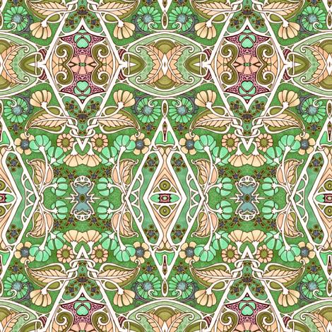 Green Meadow Dance fabric by edsel2084 on Spoonflower - custom fabric