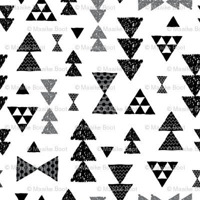 4ae54b7a011f1 Geometric gender neutral bow tie and triangle tribal illustration pattern  for boys or home decor Black Back.  Little_smilemakers_studio_spoonflower_thumb