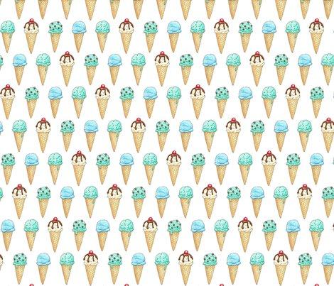 Mint_ice_cream_cones_2inch_150_hazel_fisher_creations_shop_preview