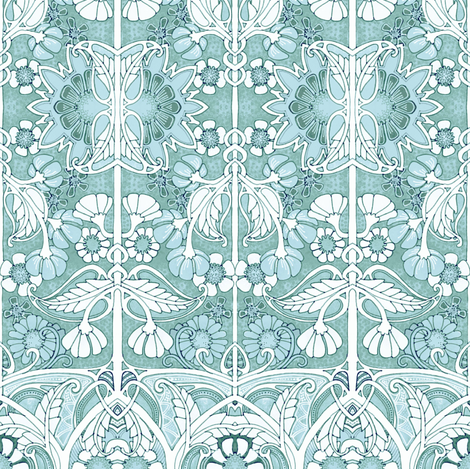 Some Misty Morning fabric by edsel2084 on Spoonflower - custom fabric