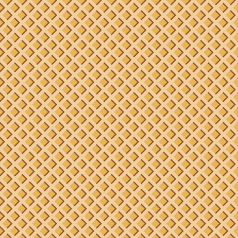 "1/2"" Ice Cream Waffle Cone fabric by littlelionworkshop on Spoonflower - custom fabric"