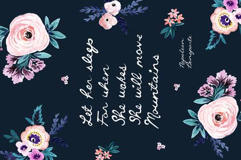 """54 x ""36 / Let Her Sleep Blanket - 90 degrees fabric by crystal_walen on Spoonflower - custom fabric"