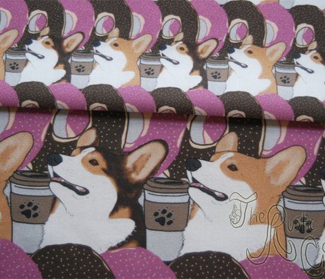 Doughnuts and coffee Pembroke Welsh Corgi portraits B - small