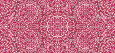 Red + Aqua Mandalas small