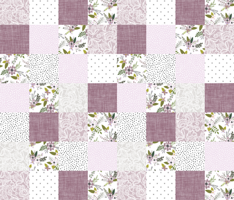 lavender sprigs patchwork wholecloth fabric by ivieclothco on Spoonflower - custom fabric