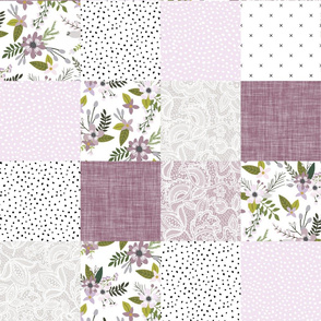 lavender sprigs patchwork wholecloth