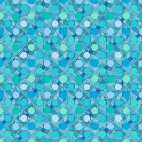 Polka Dots and Pie Charts on Teal