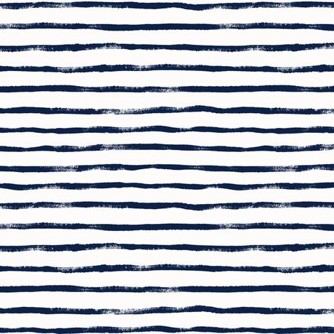 """Thin_Stripe_Indigo """"0.25 / """"0.35 fabric by crystal_walen on Spoonflower - custom fabric"""