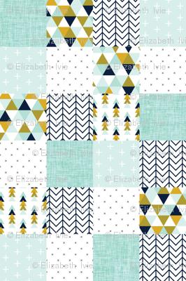 aqua adventurer patchwork wholecloth