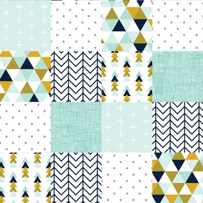 aqua adventurer patchwork wholecloth