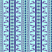 Deco Swan Stripe Aqua & Purple