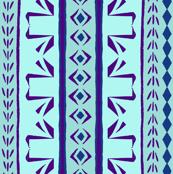 SWAN STRIPE Aqua & Purple