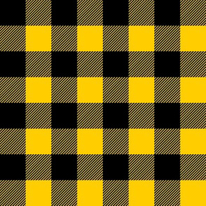 custom yellow buffalo plaid