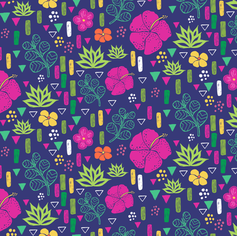 Tropical Flowers fabric by jacquelinehurd on Spoonflower - custom fabric