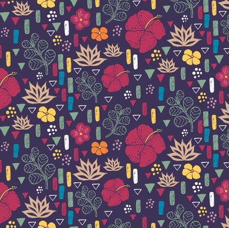 Tropical Flowers 2 fabric by jacquelinehurd on Spoonflower - custom fabric