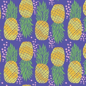 Fancy Pineapples with Pink Dots