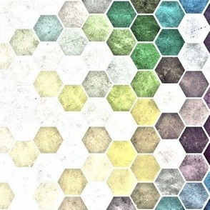 Grunge Hexagons HDR