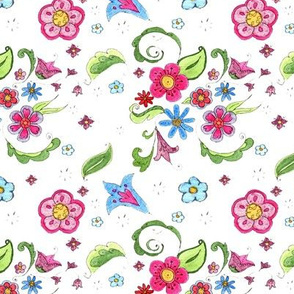 Whimsical Watercolor Floral