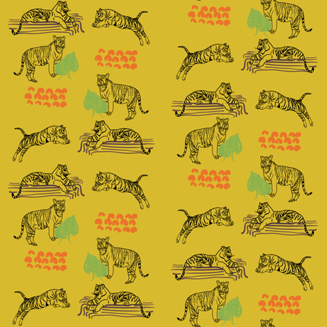 Tiger Tiger  fabric by eliza_svea on Spoonflower - custom fabric