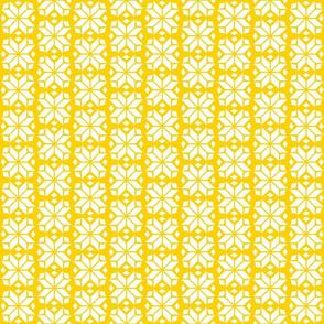 Yellow Snowflake Print