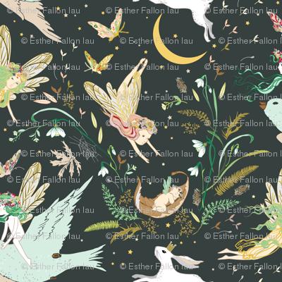Enchanted Fairies LARGE (pine)