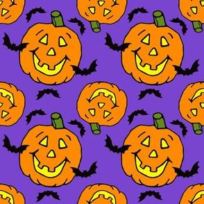 Jack-o-lanterns Bats Halloween