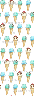 Mint Ice Cream Cones - 1 inch