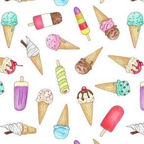 Ice Creams and Lollies - 2 inch