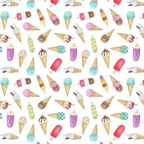 Ice Creams and Lollies - 1 inch