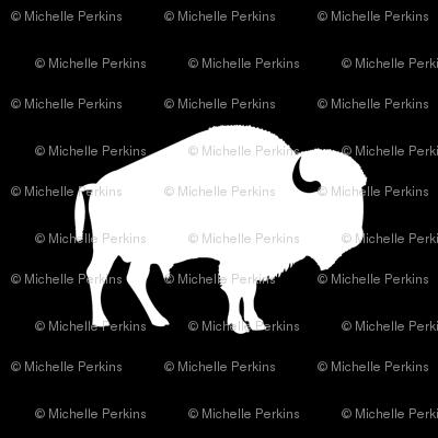white buffalo on black