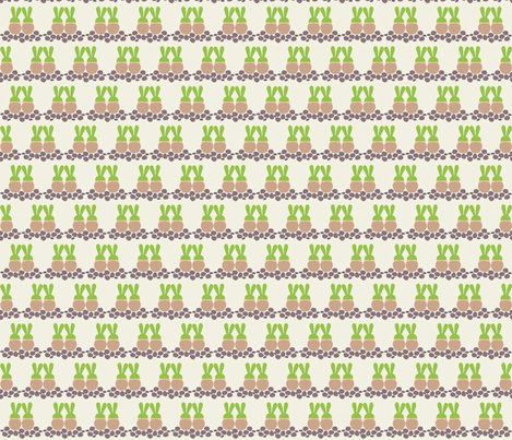 Love Bunny_Succulents fabric by colour_angel_by_kv on Spoonflower - custom fabric