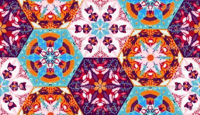 whimsical hexagons