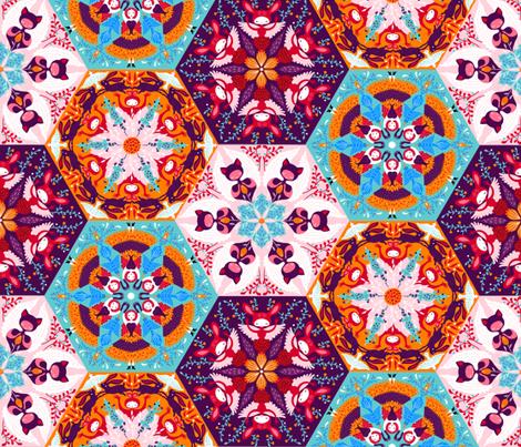 whimsical hexagons fabric by gaiamarfurt on Spoonflower - custom fabric