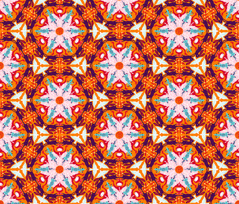hexagonsorange fabric by gaiamarfurt on Spoonflower - custom fabric