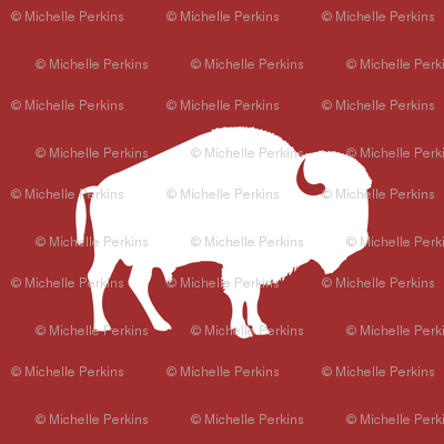 white buffalo on red