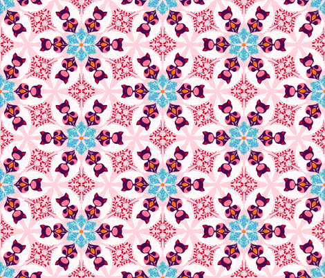 hexagonspink fabric by gaiamarfurt on Spoonflower - custom fabric